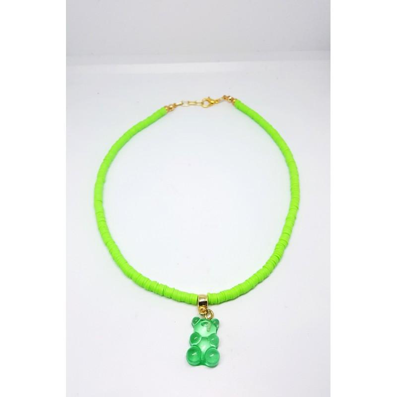 Jelibon Ayıcık Kolye - Yeşil