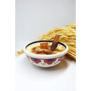 Ahşap Filitreli Çini Kase Soya/vegan Mum 135gr / Vanilya-tarçın